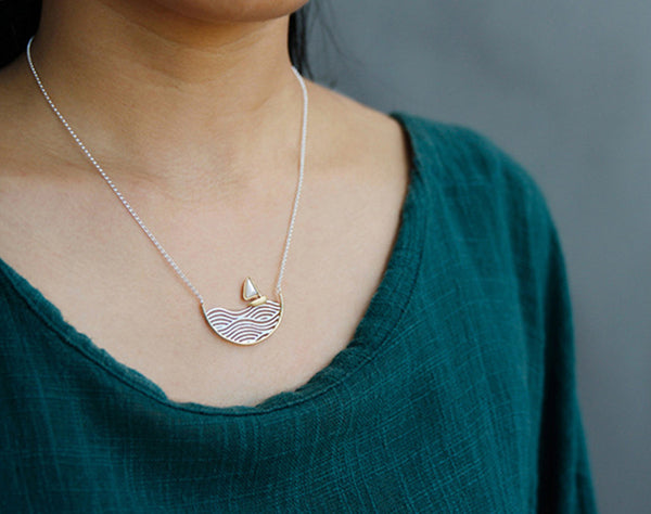 Sailboat Necklace - Lotus Fun