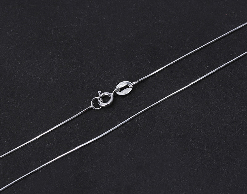 handcrafted 43cm 8 sided sterling silver chain necklace