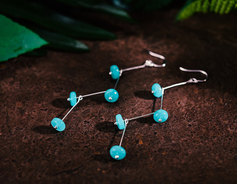 Swaying Amazonite Earring