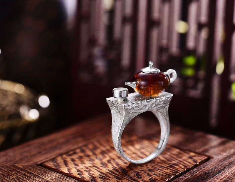 Teapot Ring - Lotus Fun