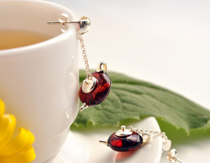 Teapot Earring - Lotus Fun