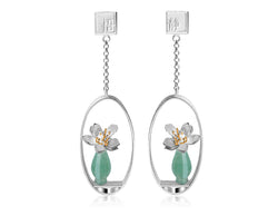 Lotus Whisper Vase Earring