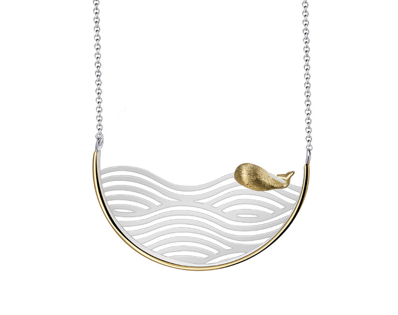 Swimming Whale Necklace - Lotus Fun