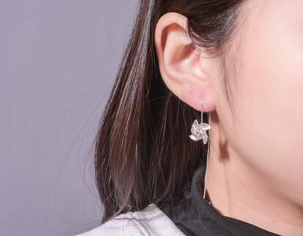 Rotatable Windmill Earring