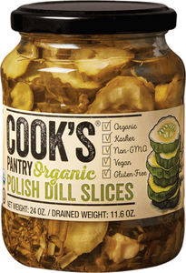 Cook's Pantry Organic Polish Dill Pickle Slices, 24 Oz (Case of 6)