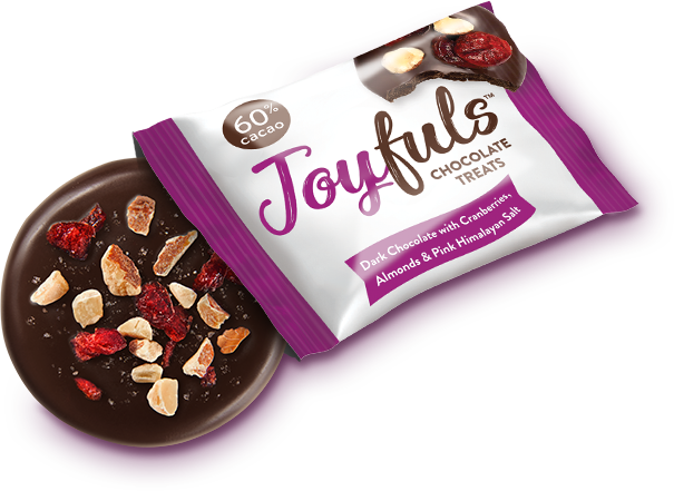 Joyful Dark Chocolate Cranberry Almond, 4 oz. (Pack of 6)