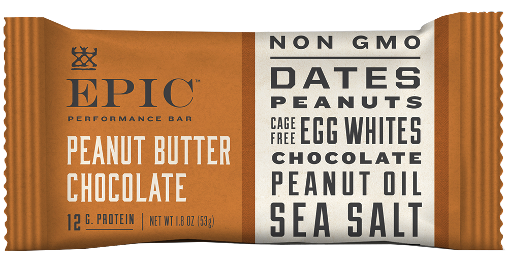 Epic Performance Peanut Chocolate Bar, 1.87 oz. (Pack of 9)