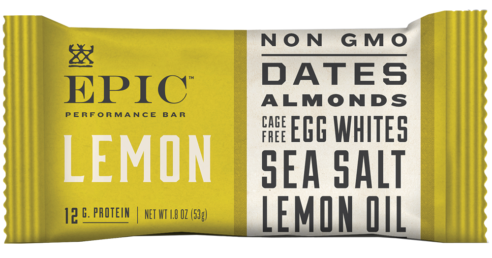Epic Performance Lemon Bar, 1.87 oz. (Pack of 9)
