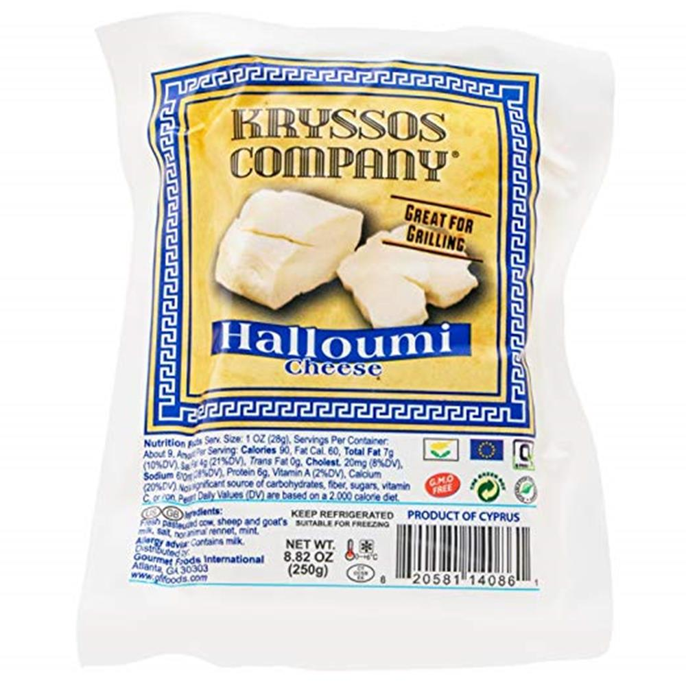 Kryssos Halloumi Cheese, 8.8 Oz (Pack of 5)