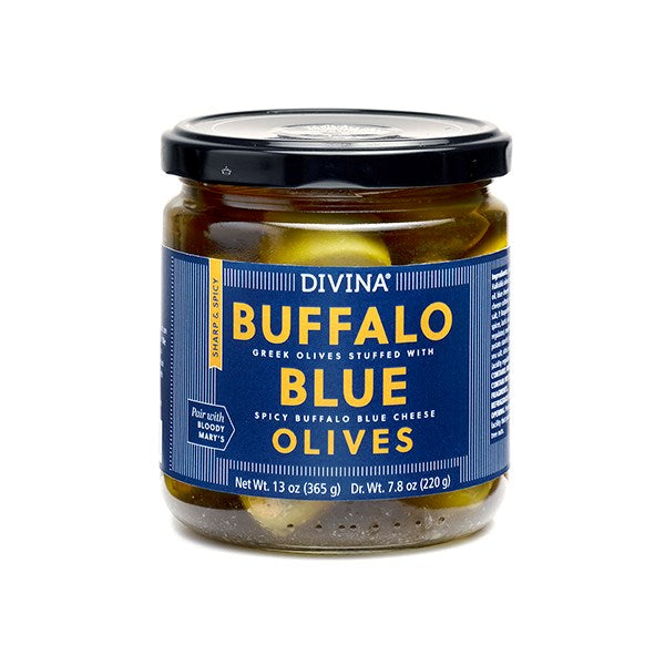 Divina Buffalo Blue Olives, 7.8 Oz. (Case of 6)