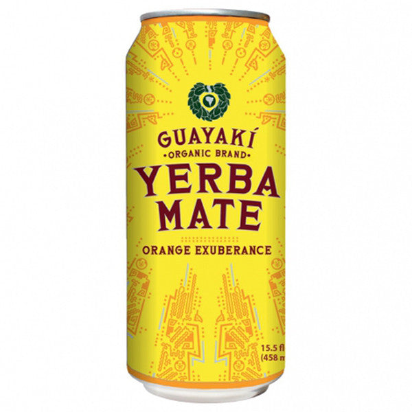 Guayaki Yerba Mate, Orange Exuberance, 15.5 oz. (Pack of 12)