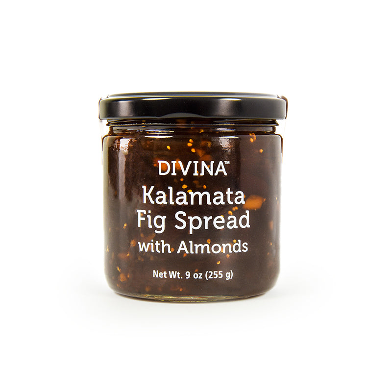Divina Kalamata Fig Spread with Almonds, 9 oz. (Case of 12)
