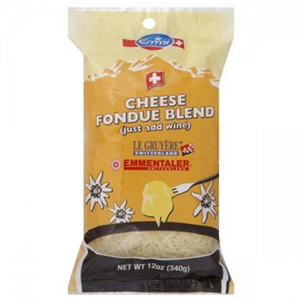 Emmi Shredded Fondue Cheese Blend, 12 Oz (Pack of 3)