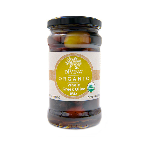 Divina Organic Mixed Greek Olives, 6.35 oz. (Case of 6)