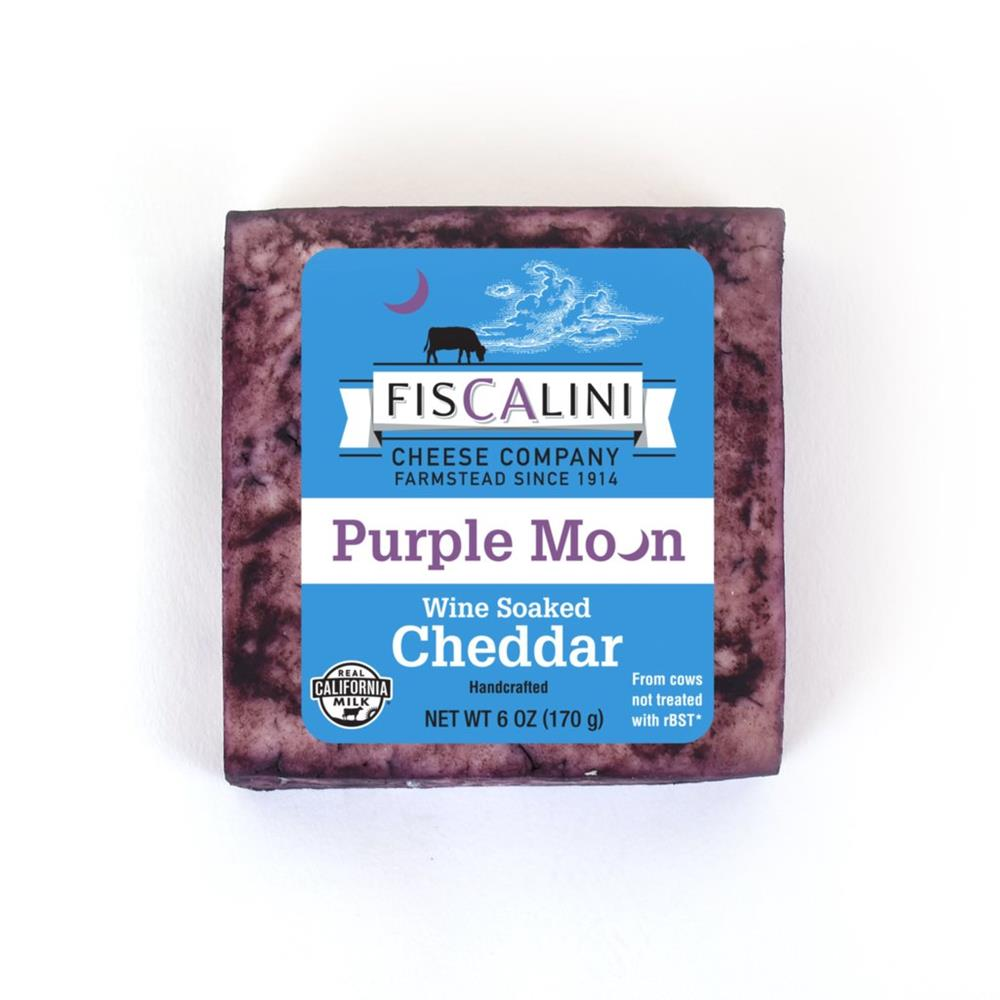 Fiscalini Purple Moon Cheddar, 6 Oz (Pack of 4)