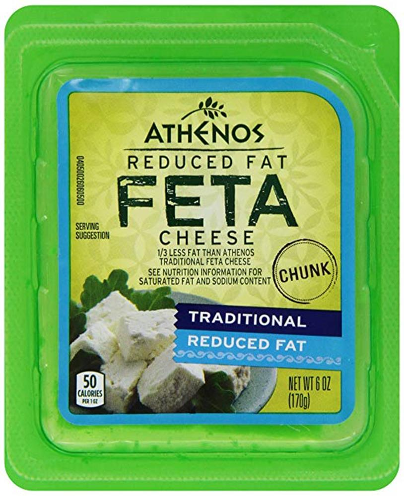 Athenos Reduced Fat Chunk Feta, 6 Oz (Pack of 3)