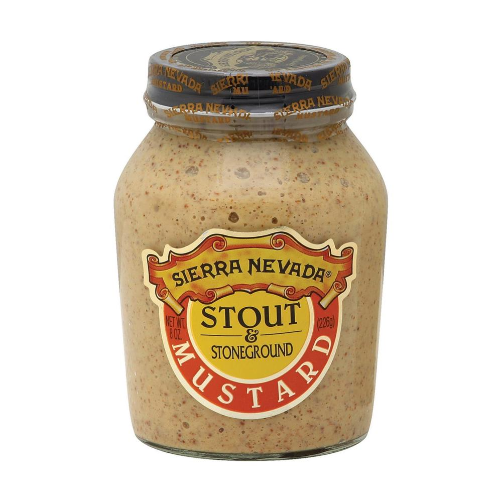 Sierra Nevada Stout & Stoneground Mustard, 8 oz. (Case of 6)