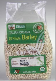 Agribosco Organic Italian 10 Minute Barley, 8.8 oz. (Case of 12)
