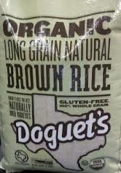 Doguet's Organic Long Grain Brown Rice, 25 lb