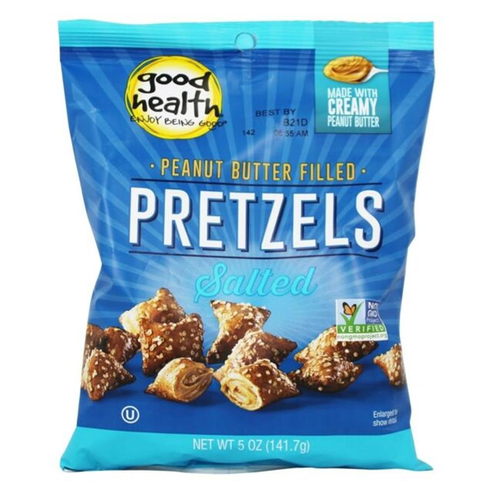 Good Health Peanut Butter Filled Pretzels, 5 oz. (Case of 12)