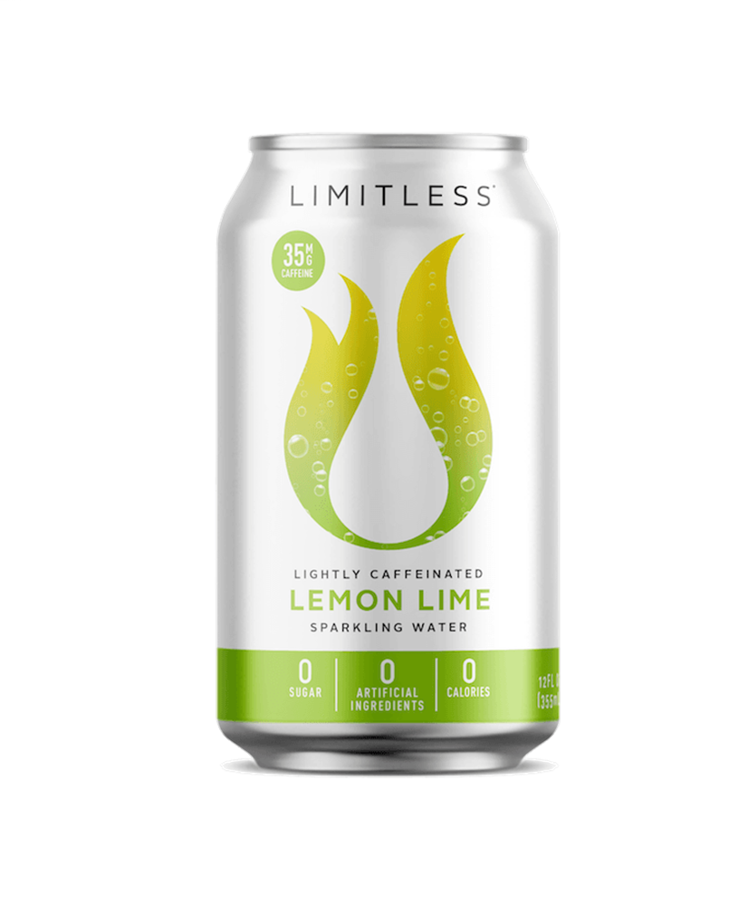 Limcoff Lemon Lime Caffeinated Sparkling Water, 12 oz. (Pack of 8)