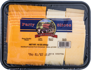 New Bridge Party Sliced Cheese, 16 Oz (Pack of 3)