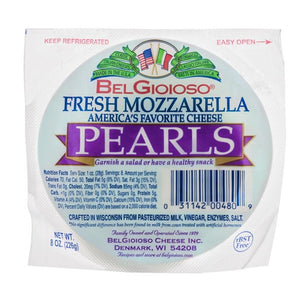 Belgioioso Fresh Mozzarella Pearls, 8 Oz (Pack of 3)