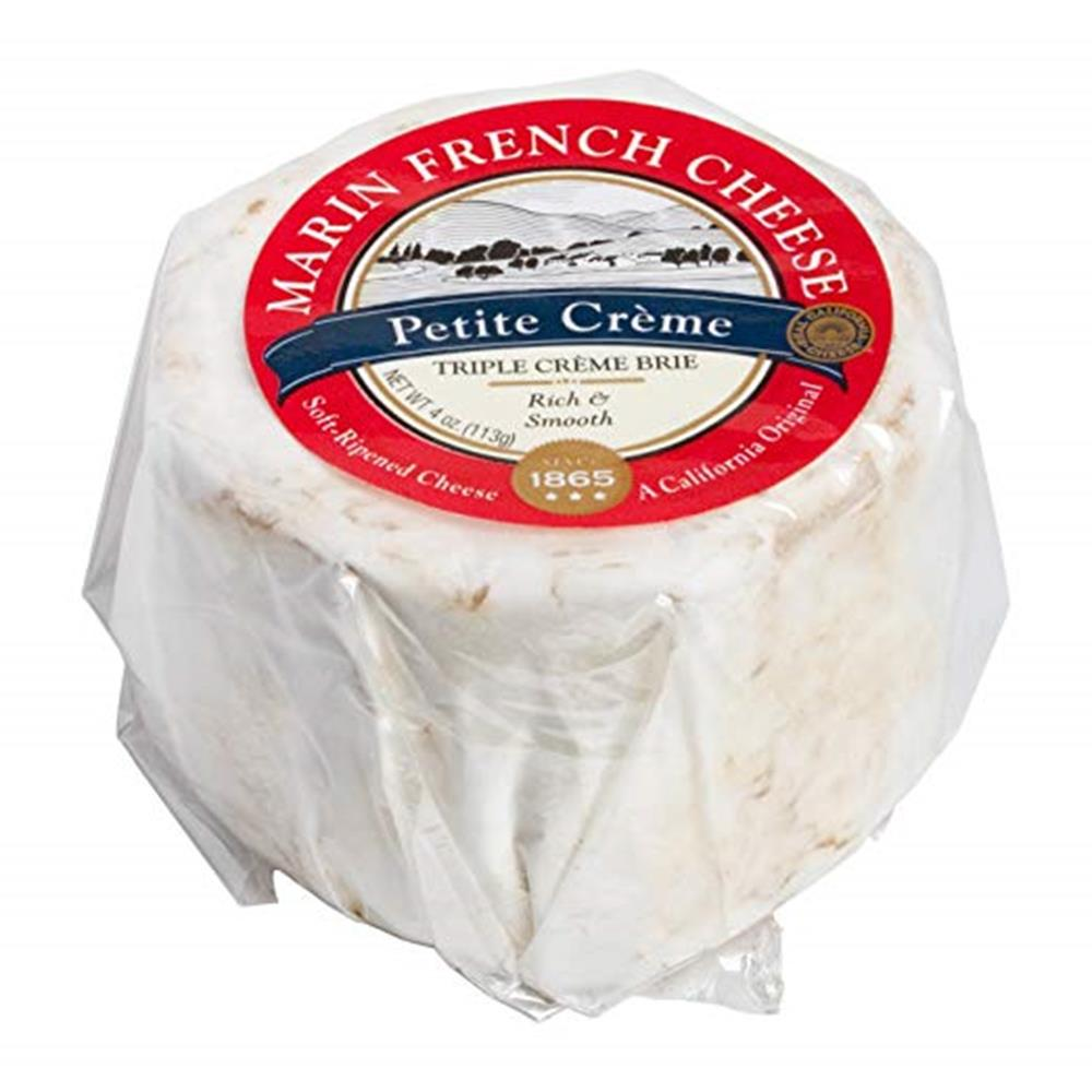 Marin French Petite Creme Brie, 4 Oz (Pack of 3)