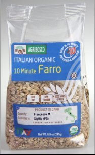 Agribosco Organic Italian 10 Minute Farro, 8.8 oz. (Case of 12)