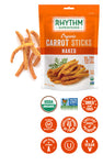 Rhythm Naked Carrot Sticks, 1.4 oz. (Case of 12)