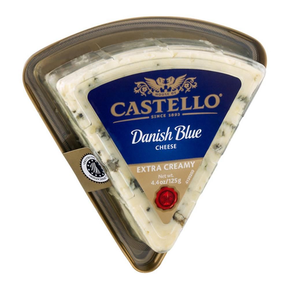 Castello Extra Creamy Danish Blue Cheese, 4.4 Oz (Pack of 4)