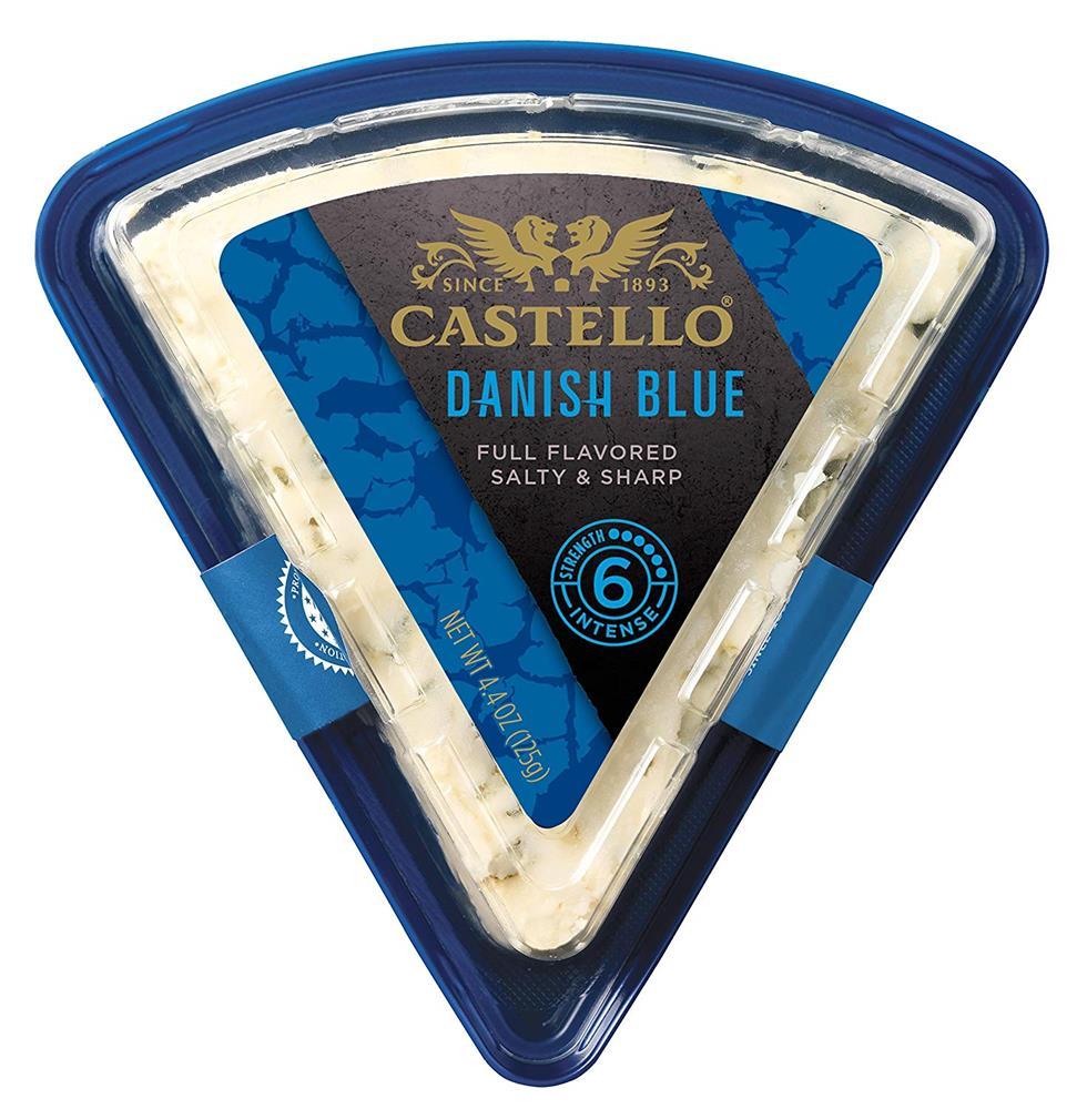 Castello Traditional Danish Blue Cheese, 4.4 Oz (Pack of 4)