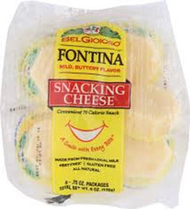 Belgioioso Fontina Snacking Cheese, 8 Ct (Pack of 5)