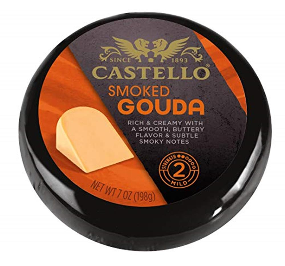 Castello Smoked Gouda Rounds, 7 Oz (Pack of 3)