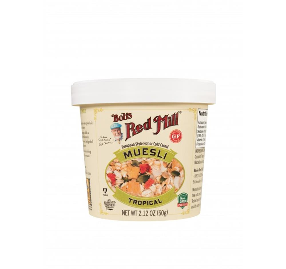 Bob's Red Mill Tropical Muesli Cup, 2.12 oz. (Case of 12)