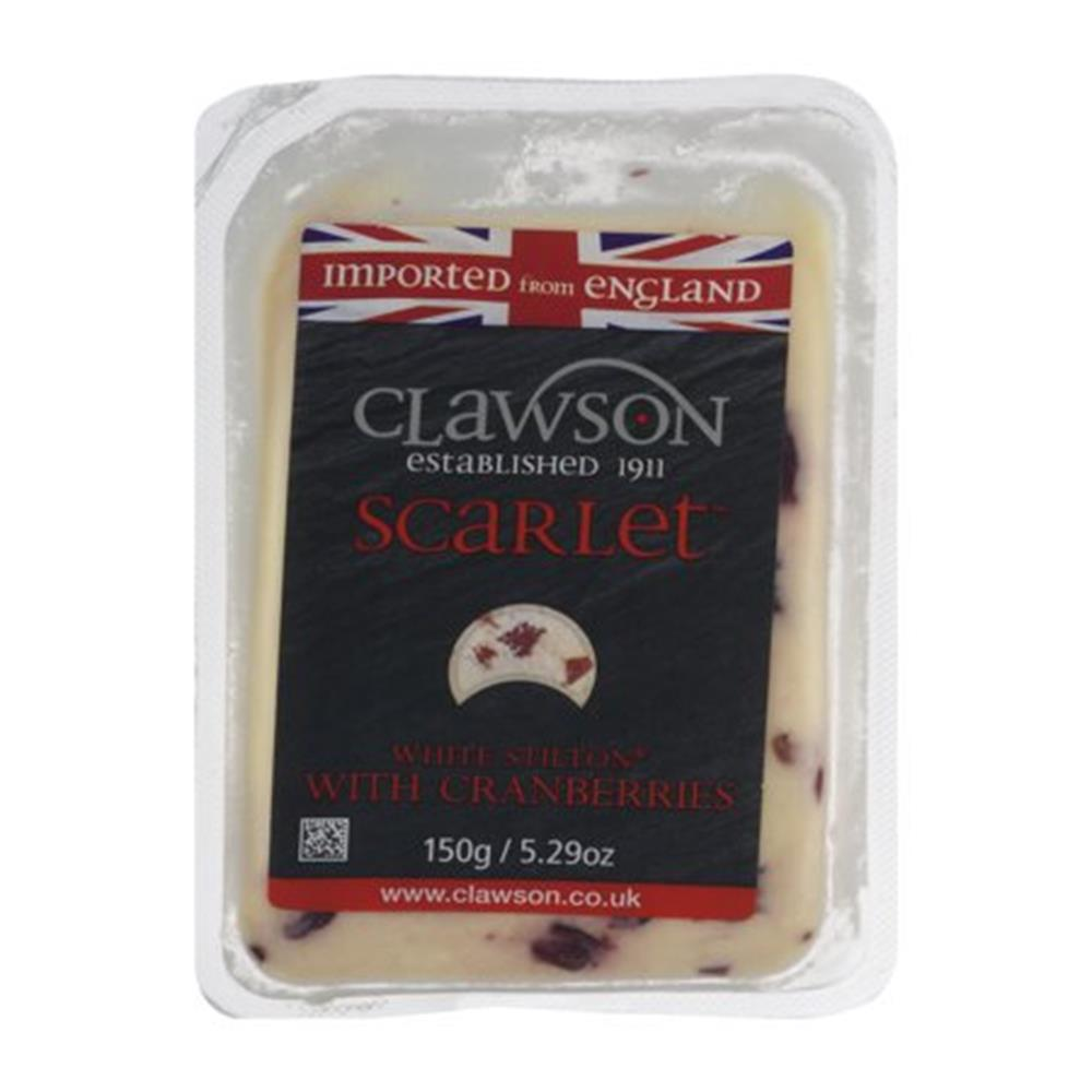 Long Clawson Stilton With Cranberries, 5.3 Oz (Pack of 4)