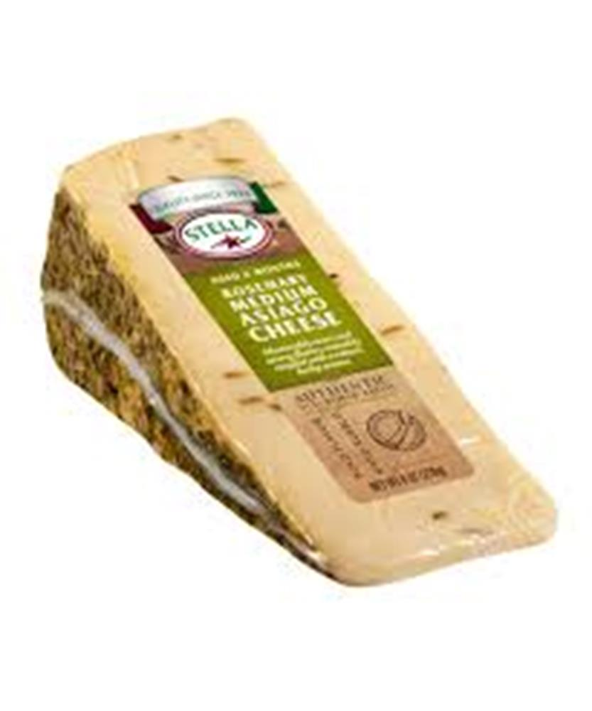 Stella Asiago With Rosemary Rub, 8 Oz (Pack of 3)
