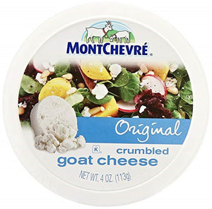 Montchevre Crumbled Goat Cheese, 4 Oz (Pack of 3)