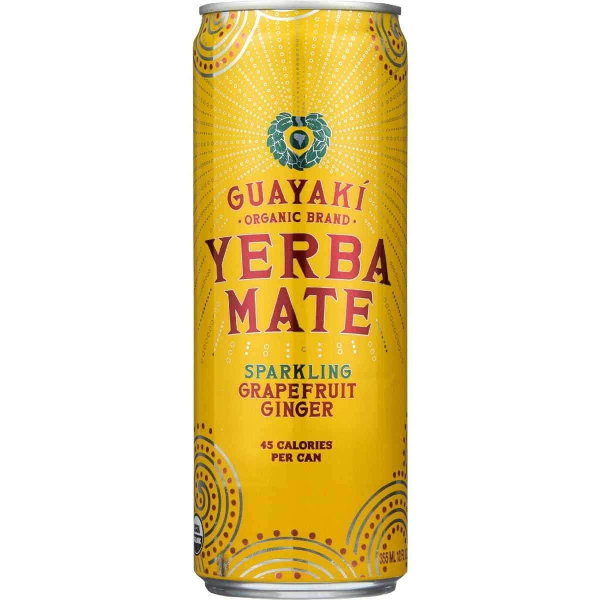Guayaki Yerba Mate, Sparkling Grapefruit Ginger, 12 oz. (Case of 12)