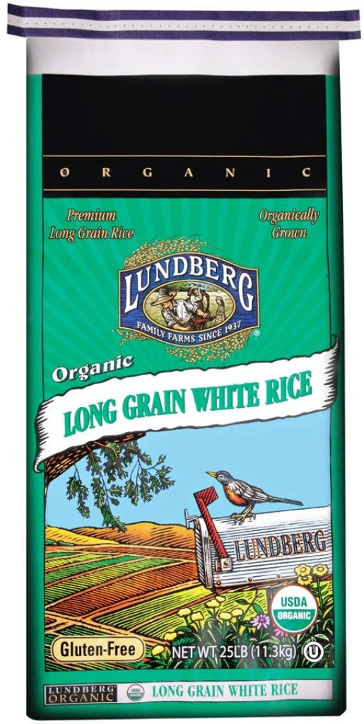 Lundberg Family Farms Organic Long Grain White Rice, 25 lb