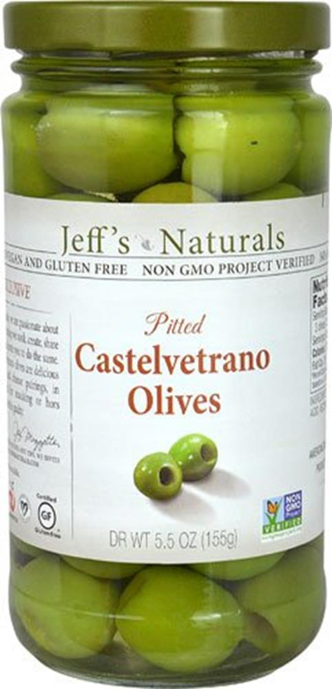 Jeff's Naturals Pitted Castelvetrano Olives, 5.5 oz. (Case of 6)