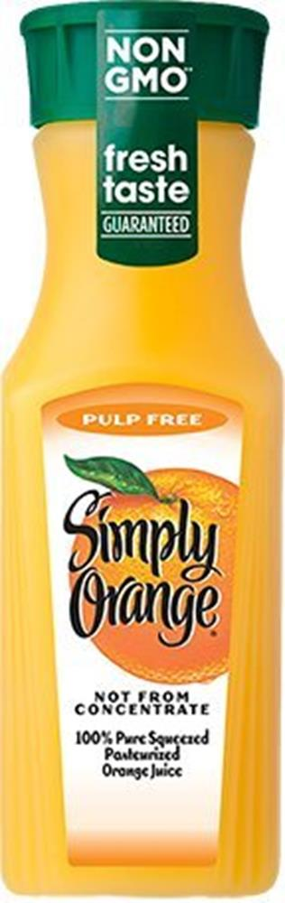 Simply Single Serve Pulp Free Orange Juice, 32 oz. (Case of 8)