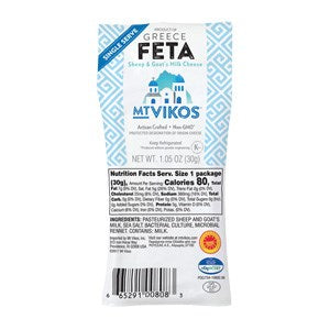Mt. Vikos, Traditional Single Serve Feta, 1.5 Oz (Case of 36)