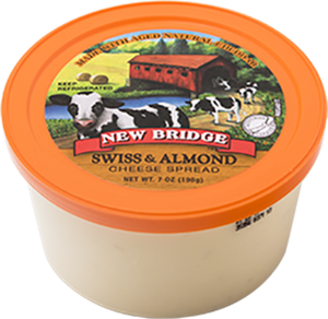 New Bridge Swiss & Almond Cheese Spread, 7 Oz (Pack of 3)