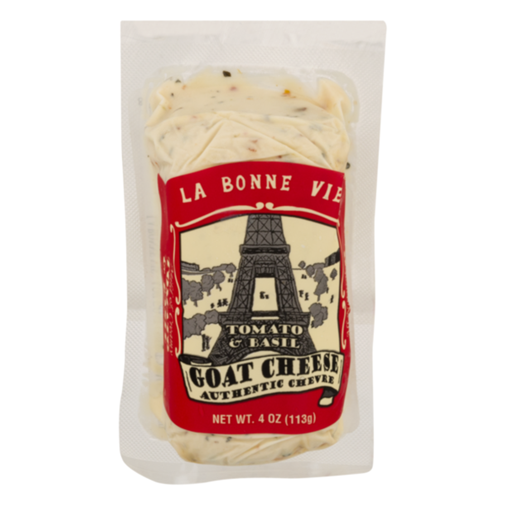 La Bonne Vie Tomato Basil Goat Log, 4 Oz (Pack of 3)