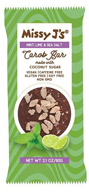 Missy J's Mint Lime Carob Candy Bars, 2.1 oz. (Pack of 3)