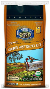 Lundberg Family Farms Organic Golden Rose Rice, 25 lb