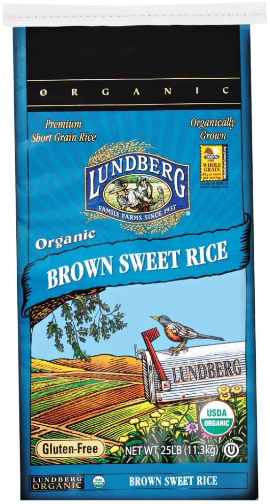 Lundberg Family Farms Organic Sweet Brown Rice, 25 lb
