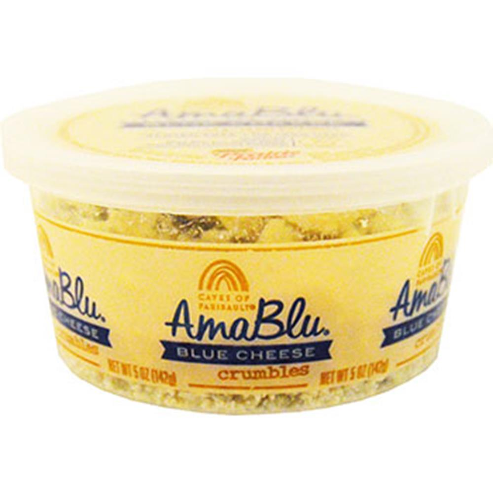 Amablu Crumbled Blue Cheese Cup, 5 Oz (Pack of 3)