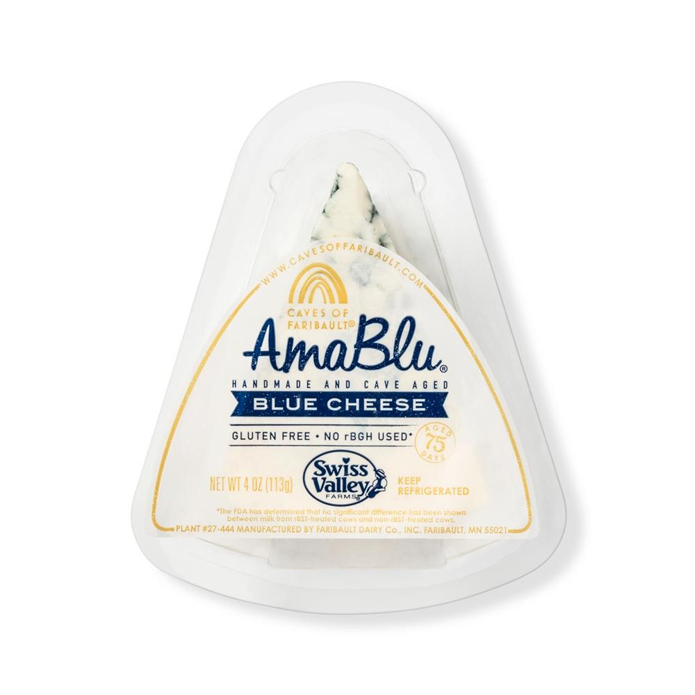 Amablu Blue Cheese Wedge, 4 Oz (Pack of 4)